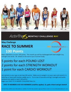 May Race to Summer Fitness Challenge