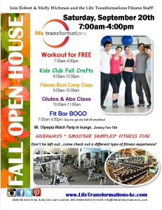 Life Transformations Fitness FAll Open House