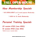 Life Transformations Fitness Fall Open House Specials