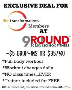 Life Transformations Fitness 9Round Fitness Flyer