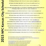2015 NPC Kansas City bodybuilding, figure, fitness, bikini, physique Schedule