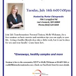Life Transformations Personal Trainer Molly Wichman Healthy Lifestyle Seminar