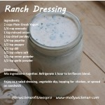 molly wichman fitness recipe ranch dressing