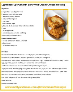 Molly Wichman Fitness Pumpkin bars